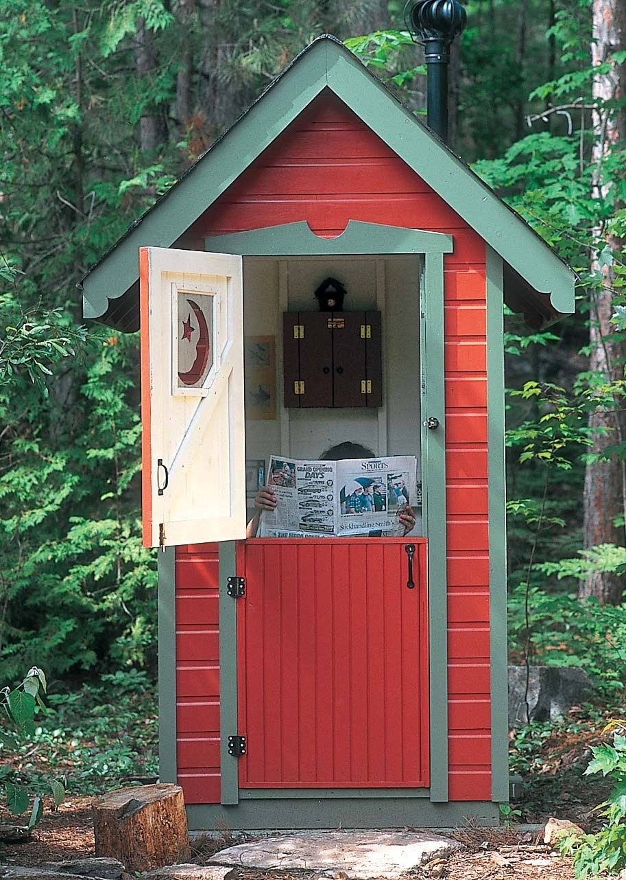 How to build a modern day outhouse off the grid news for Outhouse pictures