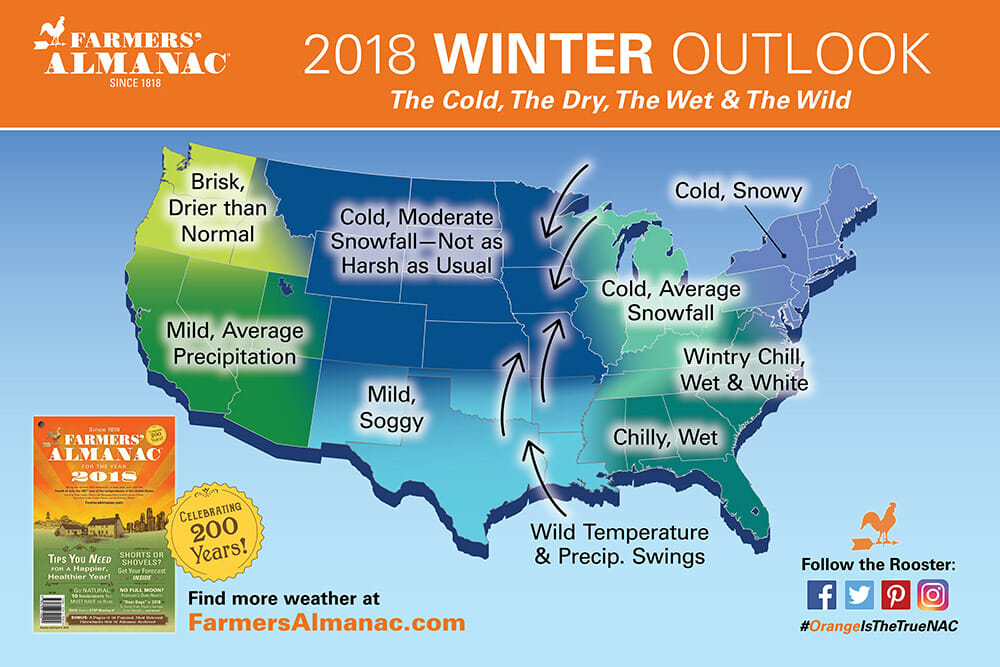 The Farmers' Almanac Just Released Its Winter Forecast. (It's More Reliable Than You Might Think.)
