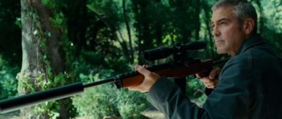 "George Clooney shot a Mini-14 in ""The American."""