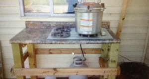 The $100 Simple Outdoor Canning Kitchen
